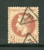 """Pas Commun!!! Y&T N°26- Oblitération Taxe """"T"""" Dans Un Triangle (référence Mathieu Rare) - 1863-1870 Napoléon III Lauré"""