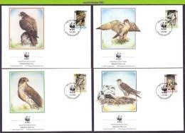 Nat136fb WWF ROOFVOGELS BIRDS OF PREY GIERVALK FALCON GREIFVÖGEL AVES OISEAUX ISLAND 1992 FDC'S - FDC