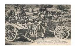 Guerre Européenne - Bataille De La Somme - Dépot De Munitions D'artillerie - Chargement De Caissons - 4148 - Manoeuvres