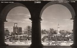 Real Photo Mexico - Stamp Box Sello 1941 - Parque Hidalgo - Nuevo Laredo Tamps - By Desentis - 2 Scans - Mexico