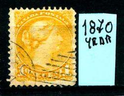 CANADA - Year 1870 - Usato - Used - Utilisè - Gebraucht. - 1851-1902 Regno Di Victoria