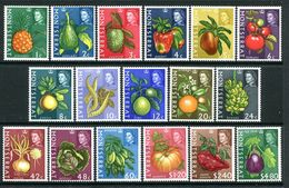 Montserrat 1965 Fruit & Vegetable Set MNH (SG 160-76) - Montserrat