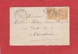 Aude -Lagrasse - GC 1921 - Cérès émission De Bordeaux 10 Centimes X 2 - 1849-1876: Classic Period