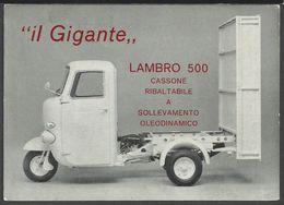 Cartolina Pubblicitaria Motocarro LAMBRO 500 - Non Classificati