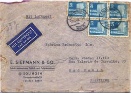 C2455-Germany/Allied Occupation-Airmail Cover From Solingen To São Paulo, Brazil-1949 - Bizone