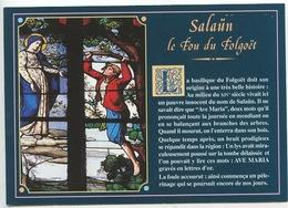 Salaün Le Fou Du Folgoët - Vitrail La Vie De Salaün Basilique Notre Dame (cp Vierge) Histoire - Le Folgoët