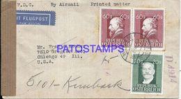 91987 AUSTRIA VIENNA COVER YEAR 1948 CENSORED CIRCULATED TO US NO POSTAL POSTCARD - Österreich