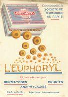 , Publicité -  Société De Dermatologie  De Paris  , L 'EUPHORYL - Advertising