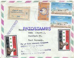 91989 IRAQ IRAK BAGHDAD COVER REGISTERED CIRCULATED TO GERMANY + ESPERANTO NO POSTAL POSTCARD - Non Classés