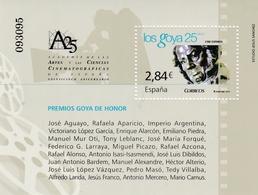 "2011,  Spanien, 4606 Block 207, Spanisches Kino: Filmpreis ""Goya"". Cine Español: Premio De Cine ""Goya"". MNH ** - 2011-... Unused Stamps"