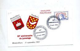 Lettre Cachet Montivilliers Echange Franco Allemand - Gedenkstempels