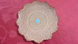 IRAN :Asie :Assiette Murale  Métal émaillé  Dentelée Au Pourtour :diamètre 24.5 Cm - Céramiques