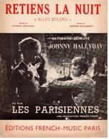 61 80 PARTITION RETIENS LA NUIT JOHNNY HALLYDAY CATHERINE DENEUVE BLUES BOLERO 1962 AZNAVOUR GARVARENTZ GUITARE PIANO - Music & Instruments