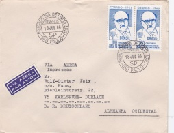 Brazil FDC 1966 Visit Of Pres. Zalman Shazar Of Israel - Been Posted Through Normal Postal System (G92-1) - FDC