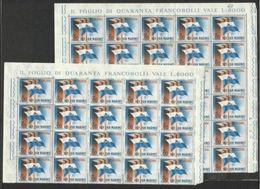 1963 San Marino Saint Marin EUROPA CEPT EUROPE 50 Serie MNH** 30+20 - Europa-CEPT