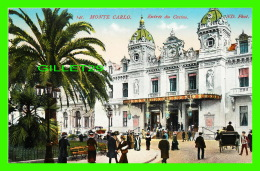 MONTE CARLO, MONACO - ENTRÉE DU CASINO - ANIMÉE - ND. PHOTO - CIRCULÉE EN 1911 - - Monte-Carlo
