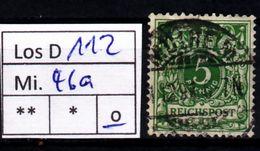 Los D112: DR Mi. 46 A, Gest. - Allemagne