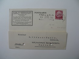Lettre Perforé  Perfin     KWH  Karl W. Hiersemann    Allemagne  1935 - Allemagne