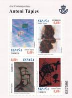 2011,  Spanien, 4623/26 Block 212, Gemälde Von Antoni Tàpies, Pintura De Antoni Tàpies, MNH ** - 2011-... Unused Stamps