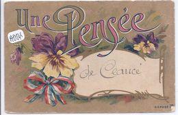 CEAUCE- UNE PENSEE DE CEAUCE- RARE FANTAISIE MANUSCRITE - France