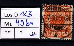 Los D123: DR Mi. 49 Ba, Gest. - Deutschland