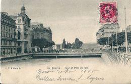 Suisse   GENEVE  -  TOUR  ET PONT  DE  L' ILE - GE Ginevra