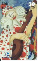 CARNAVAL  Clown Mandoline Musique Télécarte Brésil Phonecard  (D 289) - Brésil
