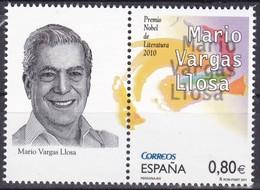 2011,  Spanien, 4638, Mario Vargas Llosa. MNH ** - 1931-Today: 2nd Rep - ... Juan Carlos I