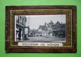 60  -  SOUVENIR DE NOYON   - CARTE A SYSTEME -  DEPLIANT 10 VUES 65 X 45mm - A Systèmes