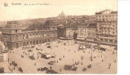 Bruxelles - CPA - Brussel - La Gare Du Nord Et Place Rogier - Spoorwegen, Stations