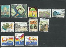 ALGÉRIE Scott 840,853-6,858-9,841,846-8,838 Yvert 897,909-912,914-5,899,902-4,895 (12) ** Cote 13,00 $ 1987 - Algérie (1962-...)