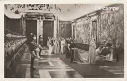Foto - Formato  Cartolina Postale -28 Dicembre 1933  Papa Pio XII In Visita Al Quirinale, Presentazione  Famiglia Reale - Roma