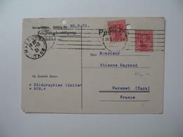 Lettre Perforé  Perfin     ML - 4  Marcus Lissauer     Allemagne  1921 - Allemagne