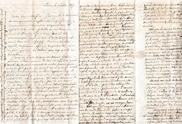 1850 - Longue Agonie Du Colonel GALLIER, Il Avait De La Religion Et Du Courage... Colonie à ALEXANDRIE, Mariage - Documents Historiques
