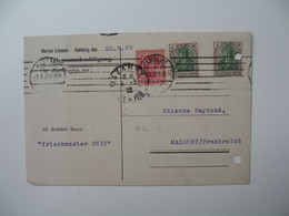 Lettre Perforé  Perfin     ML - 4  Marcus Lissauer     Allemagne  1922 - Allemagne