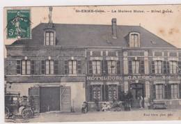 ST ERME - Gare  (02) La Maison Bleue . Hôtel Doré (Café . Chevaux Et Voitures De Louage) Vendue En L'état - France