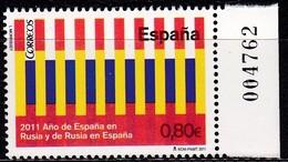 2011,  Spanien, 4653, Spanisch-russischen Kulturaustausch, Intercambio Cultural Hispano-ruso, MNH ** - 1931-Hoy: 2ª República - ... Juan Carlos I