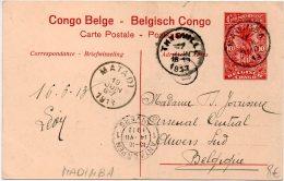 Congo - Entier Postal Stationery - Stibbe 43 Vue View 20 - Madimba Matadi Thysville Anvers Belgique 1913 - J2 - Interi Postali