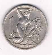 1 KORUN 1922 TSJECHOSLOWAKIJE /1768G// - Czechoslovakia
