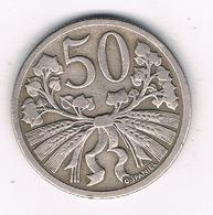 50 HALLER 1921 TSJECHOSLOWAKIJE /1769G// - Czechoslovakia