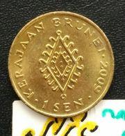 SNE- Brunei Darussalam Coin 1 Sen Warna Gold - Brunei
