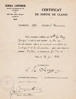 Louis De Serres Compositeur De Musique Signature Sur Certificat De Classe ( Diplome)  De Schola Cantorum Autographe - Autographes