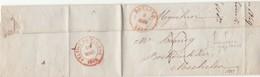LAC  De ROULERS Roeselare 9 Mars 1849 Vers Mechelen Càd STATION DE MALINES (pliage Inhabituel) - 1830-1849 (Belgica Independiente)