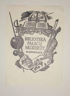 Ex-libris Moderne XXème Illustré -  Pologne - PALACU MLODZIEZY W KATOWICACH - Ex-libris