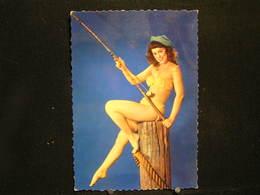 W-282 / Carte - Photo / Pin-up - ( Nue )  En Maillot De Bain ( + - Année 1950 )  /  Circulé En 1957  .- - Pin-Ups