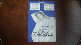 BUVARD , Publicité Pour Solidra, Marque De Draps Depuis 1935 - Textile & Clothing