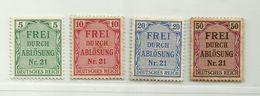 Allemagne III ème Reich Service N° 3 - 4 - 5 - 8 - Dienstzegels