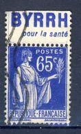 +France Advertising Appendance (239). Yvert 365. BYRRH. POUR LA SANTÉ. Braun 963. Used - Advertising