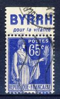 +France Advertising Appendance (241). Yvert 365. BYRRH. POUR LA VITALITÉ. Braun 965. Used - Advertising