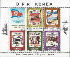 1980 Mi-Nr. 1997/01 Kleinbogen O Used - Aus Abo - Corée Du Nord